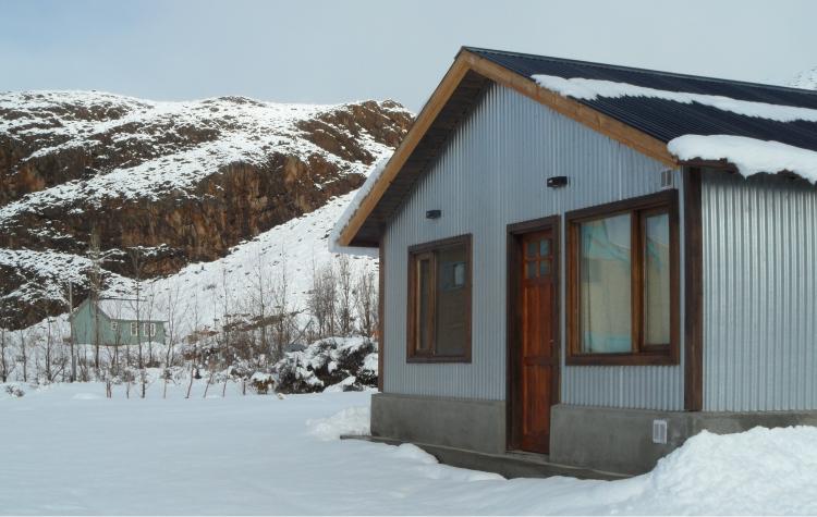 cabañas yaten invierno exterior