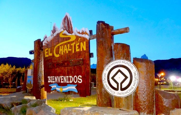 cartel bienvenidos a El Chalten