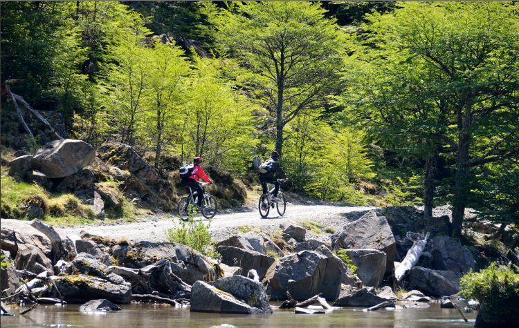 bicicletas en sendero